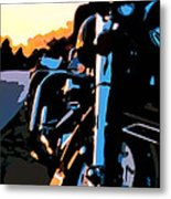 Classic Harley Metal Print by Michael Pickett