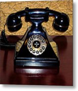 Classic Rotary Dial Telephone Metal Print by Mariola Bitner