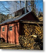 Classic Vermont Maple Sugar Shack Metal Print by Edward Fielding