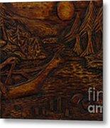 Clatsop Coyote God Italapas Metal Print by Carlo Olkeriil