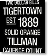 Clemson College Town Wall Art Metal Print by Replay Photos