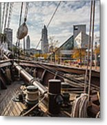 Cleveland From The Deck Of The Peacemaker Metal Print by Dale Kincaid