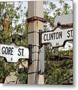 Clinton And Gore Metal Print by Andrew Fare