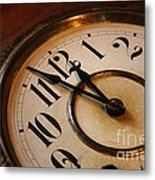 Clock Face Metal Print by Johan Swanepoel