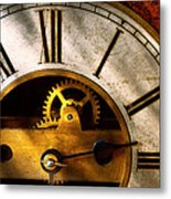 Clockmaker - What Time Is It Metal Print by Mike Savad