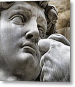 Close-up Face Statue Of David In Florence Metal Print by David Smith