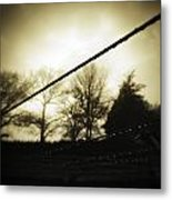 Clotheslines  Metal Print by Les Cunliffe