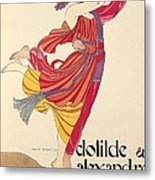 Clotilde And Alexandre Sakharoff Metal Print by George Barbier