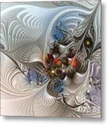 Cloud Cuckoo Land-fractal Art Metal Print by Karin Kuhlmann