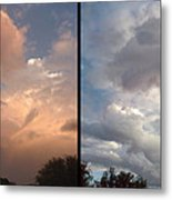 Cloud Diptych Metal Print by James W Johnson