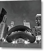 Cloud Gate And Skyline Metal Print by Adam Romanowicz