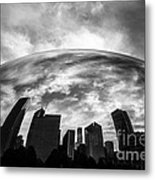 Cloud Gate Chicago Bean Metal Print by Paul Velgos