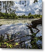 Clouds On The Water Metal Print by CJ Schmit