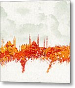 Clouds Over Istanbul Turkey Metal Print by Aged Pixel