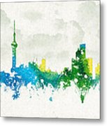 Clouds Over Shanghai China Metal Print by Aged Pixel