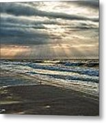 Cloudy Sunrise Metal Print by Michael Thomas