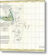 Coast Survey Map Of Nantucket And The Davis Shoals Metal Print by Paul Fearn
