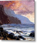 Coastal Cliffs Beckoning Metal Print by Mary Giacomini