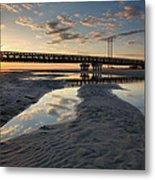 Coastal Ponds And Bridge II Metal Print by Steven Ainsworth
