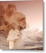 Coastal Steam Plume At Kilauea Volcano Metal Print by Stephen & Donna O'Meara