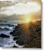 Coastal Sunrise Metal Print by Tom York Images