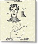 Coat Collar 1904 Patent Art Metal Print by Prior Art Design