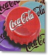 Coca-cola Cap Metal Print by Tony Rubino