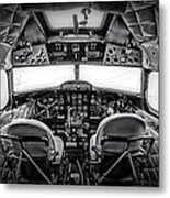cockpit of a DC3 Dakota Metal Print by Paul Fell