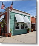 Coffee Shop At The Municipal Wharf At Santa Cruz Beach Boardwalk California 5d23833 Metal Print by Wingsdomain Art and Photography