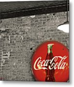 Coke Cola Sign Metal Print by Paulette B Wright