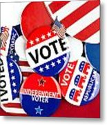 Collection Of Vote Badges Metal Print by Joe Belanger