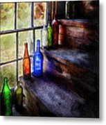 Collector - Bottle - A Collection Of Bottles Metal Print by Mike Savad