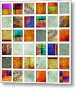 Color Block Collage Abstract Art Metal Print by Ann Powell