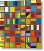 Color Study Collage 65 Metal Print by Michelle Calkins