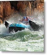 Colorado River Rafters Metal Print by Inge Johnsson