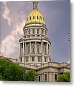 Colorado State Capitol Building Denver Co Metal Print by Christine Till