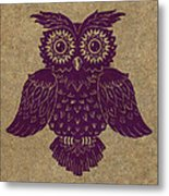 Colored Owl 1 Of 4  Metal Print by Kyle Wood