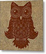 Colored Owl 2 Of 4  Metal Print by Kyle Wood
