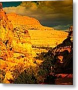 Colorful Capital Reef Metal Print by Jeff Swan