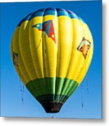 Colorful Hot Air Balloon Over Vermont Metal Print by Edward Fielding