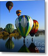 Colorful Landings Metal Print by Mike  Dawson