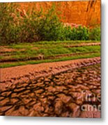 Colorful Streambed - Coyote Gulch - Utah Metal Print by Gary Whitton
