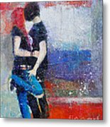 Colorful Teen Together For Ever  Metal Print by Johane Amirault