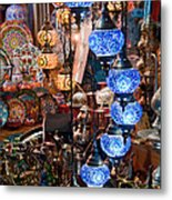 Colorful Traditional Turkish Lights  Metal Print by Leyla Ismet