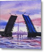 Colors Of Russia Bridges Of Saint Petersburg Metal Print by Irina Sztukowski