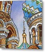 Colors Of Russia St Petersburg Cathedral II Metal Print by Irina Sztukowski
