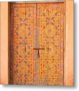 Colourful Entrance Door Sale Rabat Morocco Metal Print by Ralph A  Ledergerber-Photography