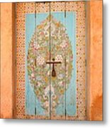 Colourful Moroccan Entrance Door Sale Rabat Morocco Metal Print by Ralph A  Ledergerber-Photography