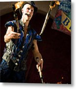 Comedy Juggling Metal Print by Mary AD Art
