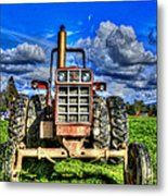Coming Out Of A Heavy Action Tractor Metal Print by Eti Reid